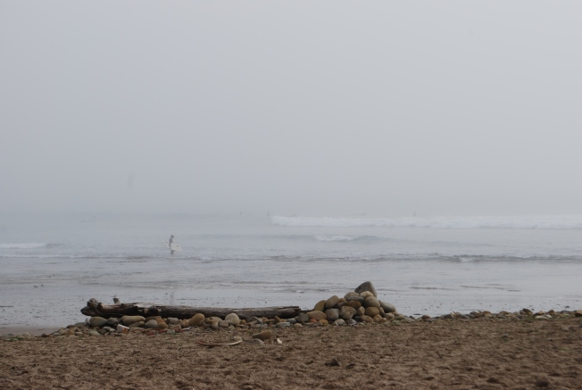 foggy surfer