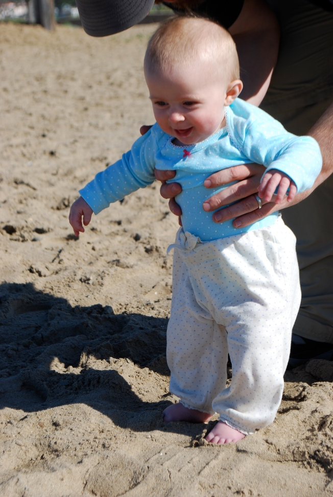 first feet in the sand