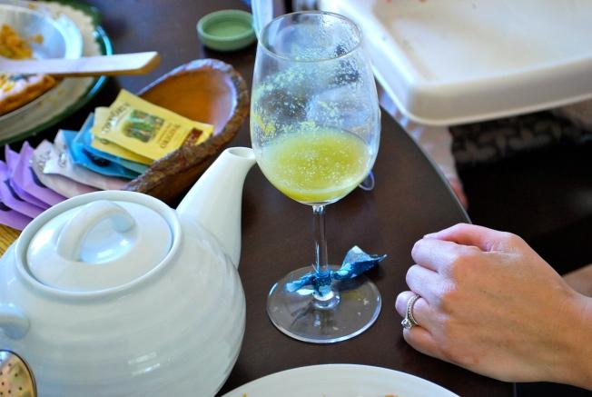 tea and mimosas