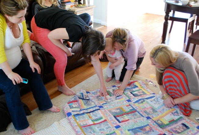 checking out the quilt