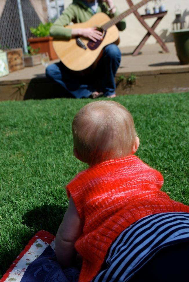 lindsey plays guitar