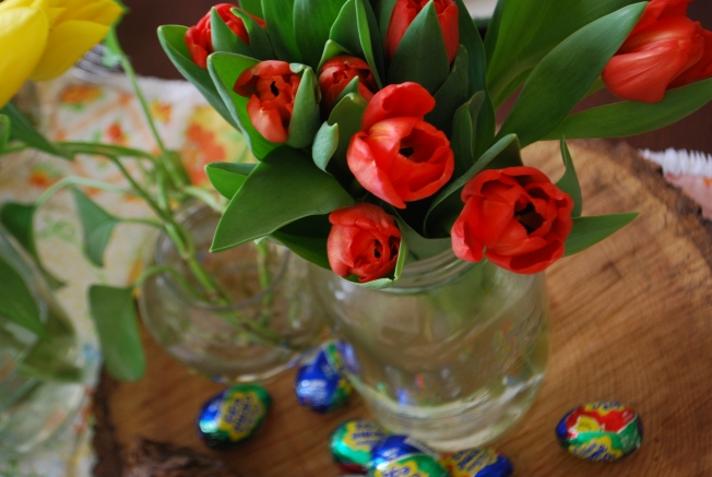 candy and tulips