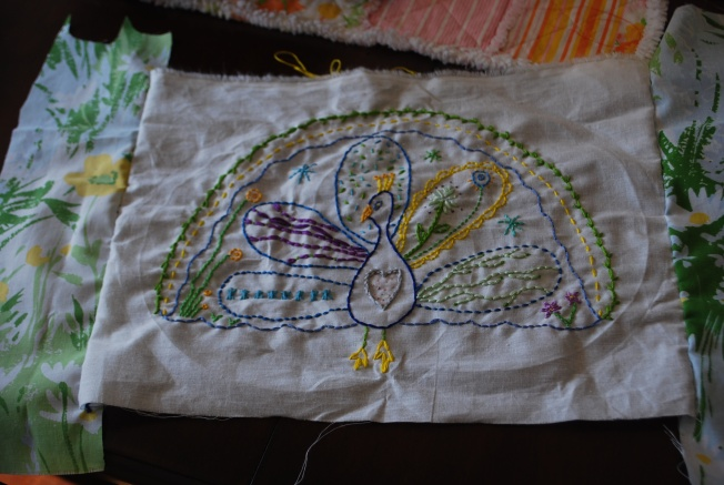 done with embroidery