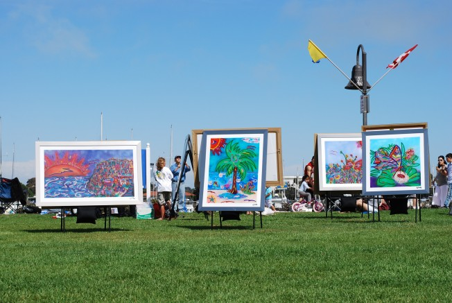 art show on the wharf