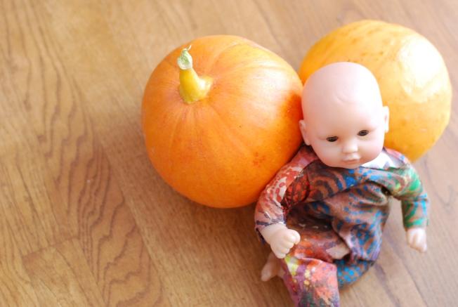 pink baby pumpkins
