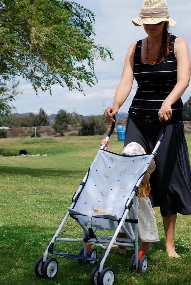 walking with stroller