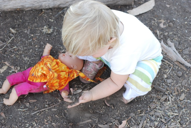 playing in the dirt