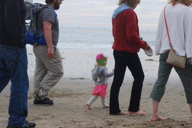 a walk down the beach