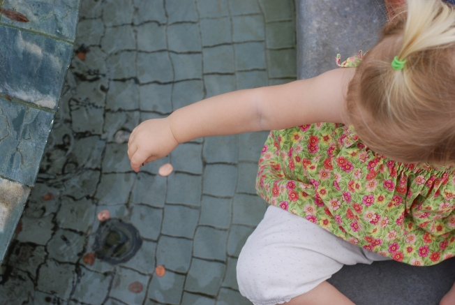 penny in the fountain