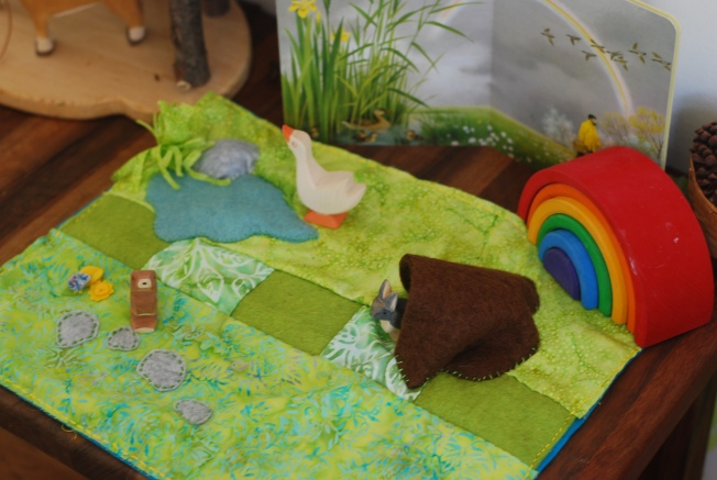 playscape with animlas