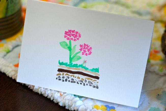 hydranga card
