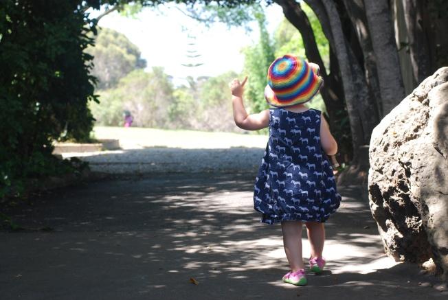 strolling