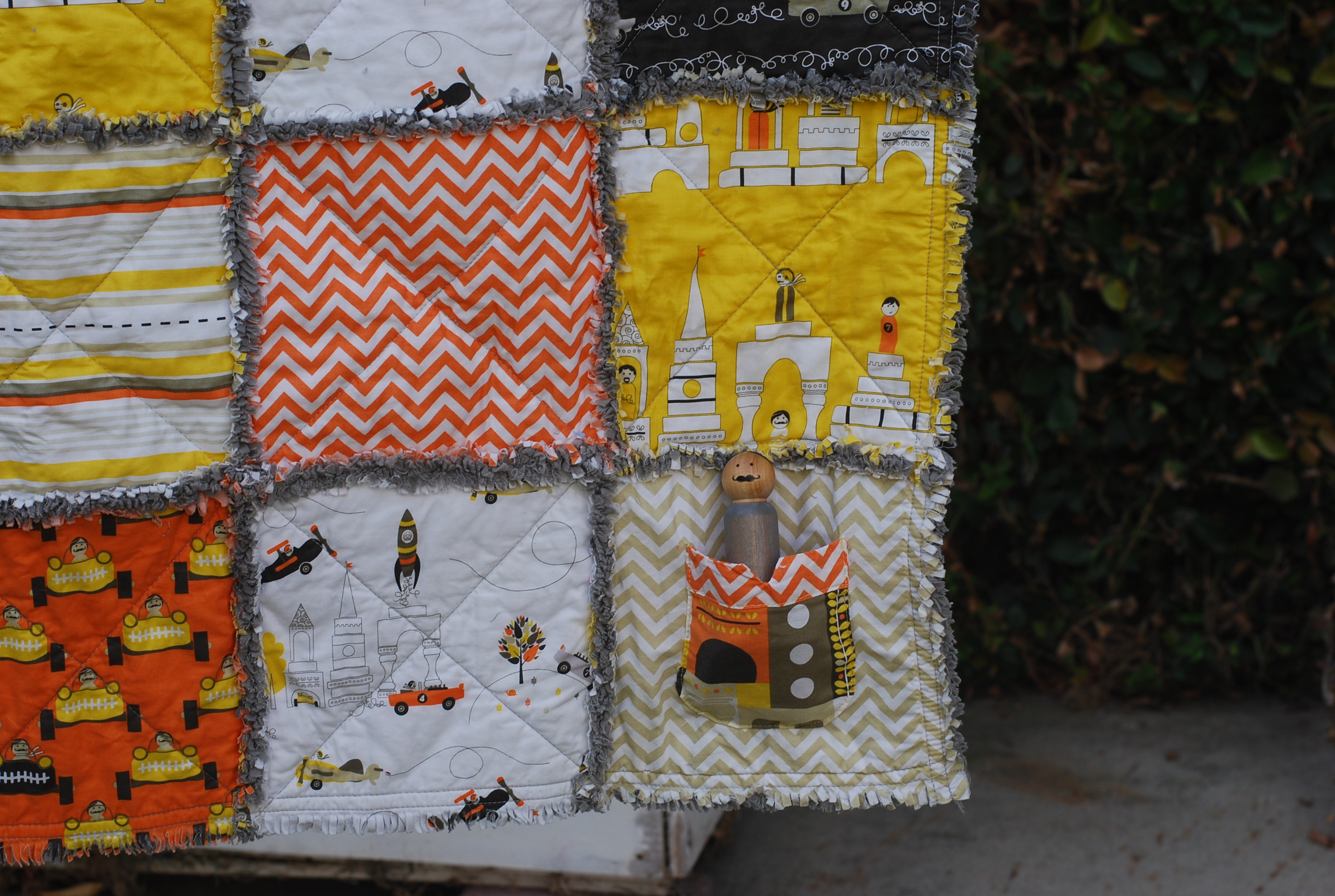 Rag Quilt And Peg Doll Set Summerplayshouse