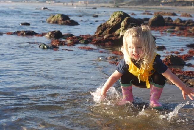 feeeling the water