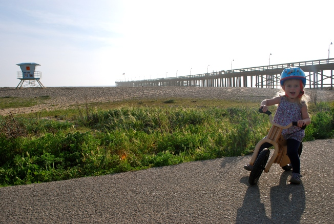 bike and pier